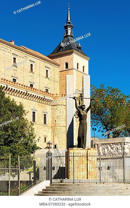 Spain, Toledo, Alcazar, fort, military museum