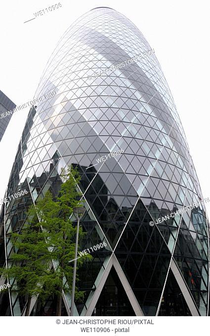 Gherkin building, London, England, UK