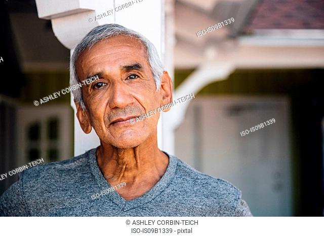 Portrait of senior man, outdoors