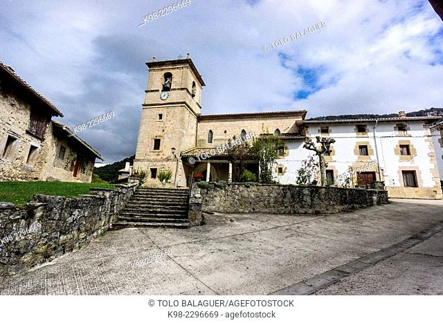 Iglesia parroquial de Baquedano, Sierra de Urbasa, Navarre, Spain