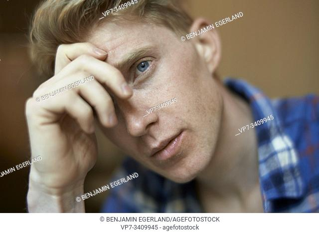 apprehensive man
