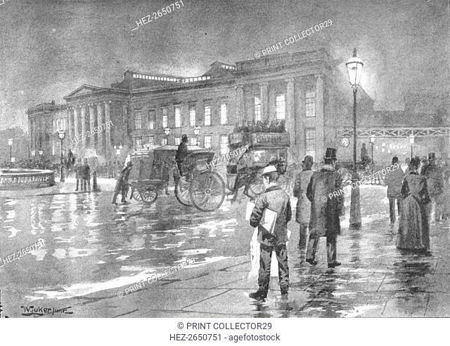 'The General Post Office - Night', 1891. Artist: William Luker