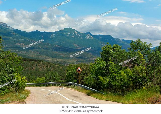 Road in the mountains of the Crimean peninsula