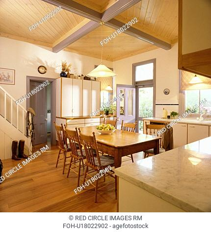 Dining Room In Country Kitchen Stock Photos And Images Agefotostock