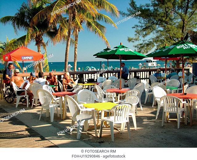 Pompano Beach, FL, Florida, ocean, outdoor cafT, terrace