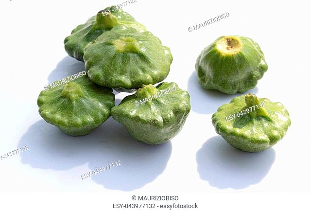 pattipan vegetable on white background