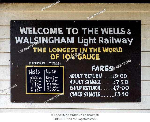 Wells and Walsingham Light Railway