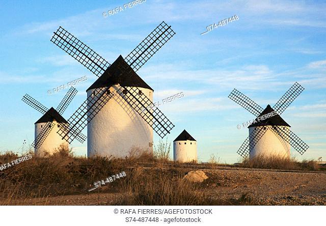 Windmills in Campos de Criptana, Ciudad Real, La Mancha, Spain