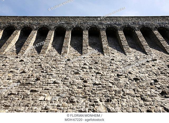 Staumauer, 1908 bis 1913 erbaut