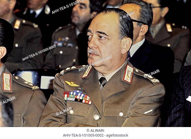 The general and prefect Italian Carlo Alberto Dalla Chiesa (1920-1982), shot 1970 ca. by Team