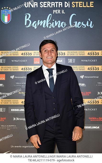 Vice President of Inter Javier Zanetti during the charity show ' Una serata di stelle' for the Hospital Bambino Gesu', Paul VI Hall, Vatican City