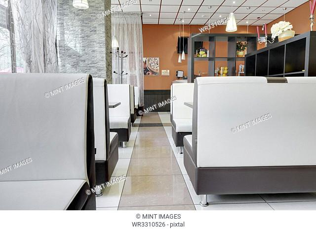 Booths in a Cafe Dining Room