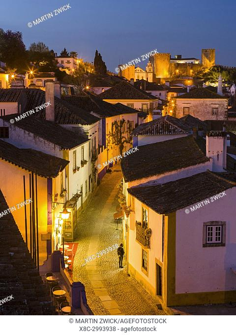 Historic small town Obidos with a medieval old town, a tourist attraction north of Lisboa Europe, Southern Europe, Portugal