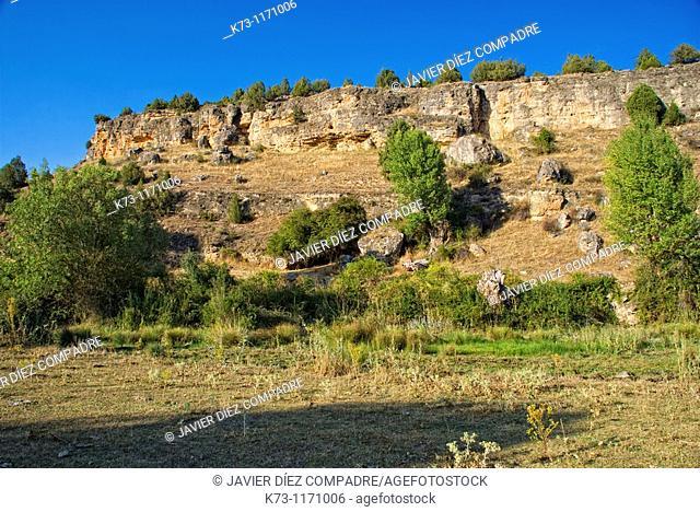 Cueva de La Vaquera  Piron River Canyon  Segovia province  Castilla y Leon  Spain