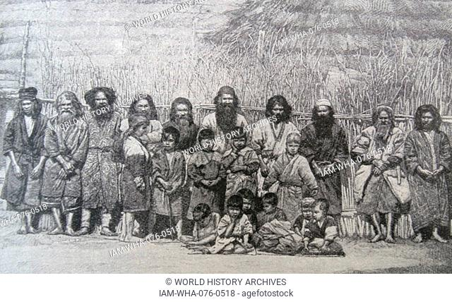The Ainu or the Aynu; an indigenous people of Japan (Hokkaido; and formerly north-eastern Honshu) and Russia (Sakhalin and the Kuril Islands)
