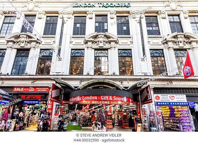 England, London, Coventry Street, London Trocadero Building, Souvenir Shops