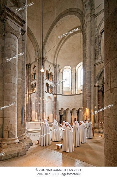Gross St. Martin, Romanische Kirche, Koeln, Rheinland, Nordrhein-Westfalen, Deutschland, Europa