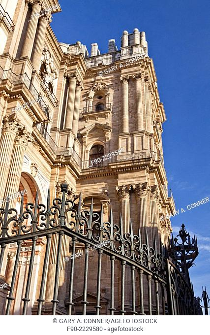 Malaga Cathedral-south tower unfinished-Renaissance style-Malaga Spain
