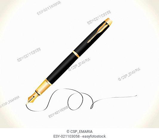 Fountain pen. Vector