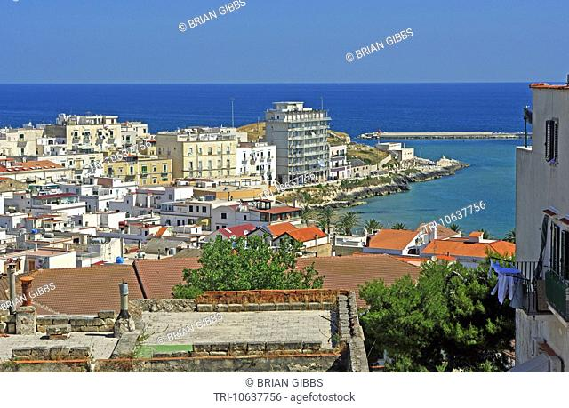 Town View Roof Tops Vieste Apulia Gargano Peninsula Puglia Southern Italy
