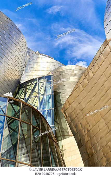 Guggenheim Museum, Bilbao, Bizkaia, Basque Country, Spain, Europe