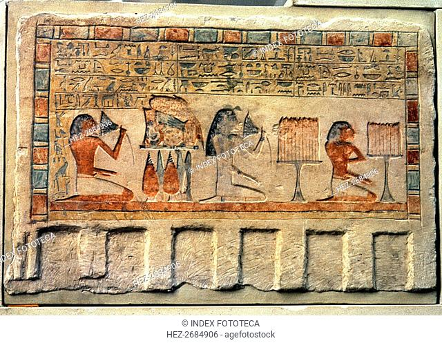 Imenyseneb Monument, chief of the expeditions of the Pharaoh with figures and magical shortcuts f?