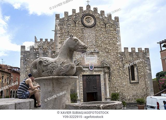 Duomo, Taormina, Sicily, Italy