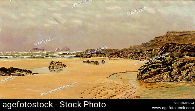 Brett John - a View of Treyarnon Bay - British School - 19th Century