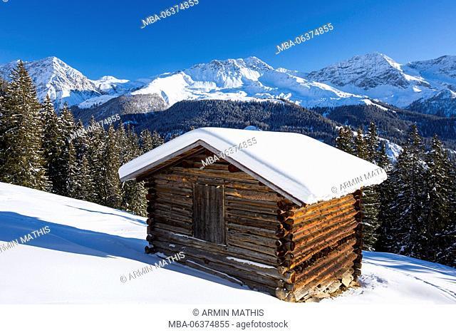 Winter scenery close to Arosa, Switzerland