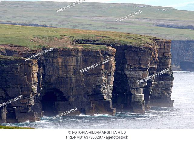 Look to Noup Head, West coast, Westray, Orkney Islands, Scotland, United Kingdom / Blick Richtung Noup Head, Westküste, Westray, Orkney Inseln, Schottland