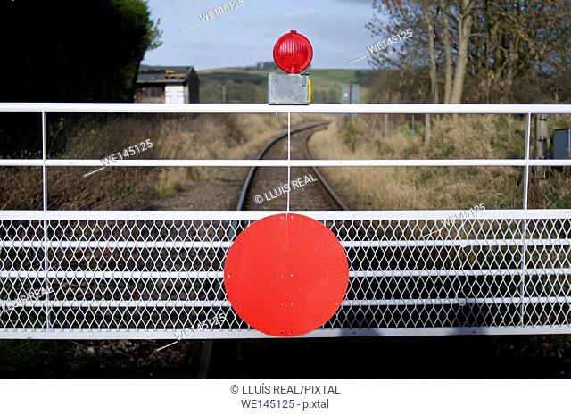 Railway, red sign