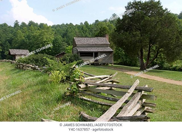 Dan Lawson Place built around 1856 in Cades Cove in the Great Smoky Mountains National Park, Tennessee