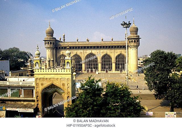 A VIEW OF MECCA MASJID FROM UNANI HOSPITAL, ANDHRA PRADESH,INDIA