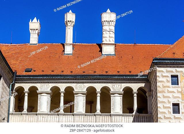 Melnik Castle, Reinassance chimneys, Central Bohemia, Czech Republic, Europe