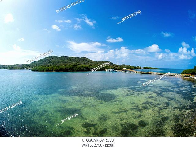 Bridge of Lovers, Island of Providencia, Archipelago of San Andres and Providencia, Colombia, South America