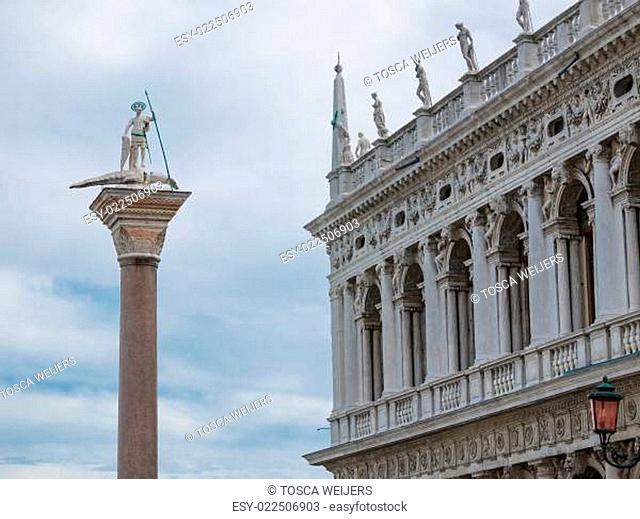 San Teodoro column in Venice