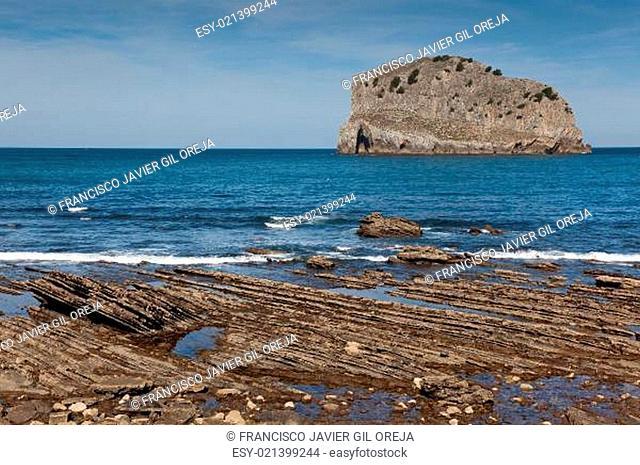 Coast in San Juan de Gaztelugatxe, Bizkaia, Basque Country, Spai