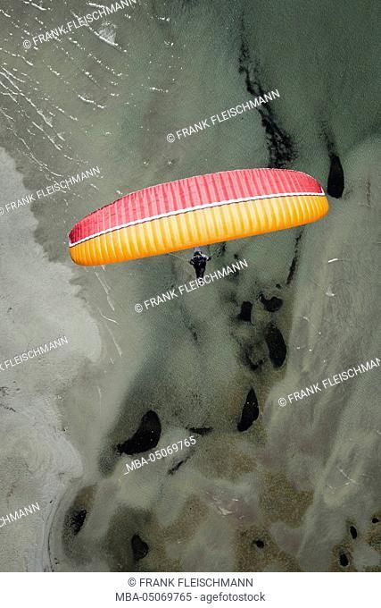 Paraglider, flight, Paragliding, enjoyment, vacation, Lago Maggiore, mountain lake, Locarno, Maggia, Ticino, Switzerland