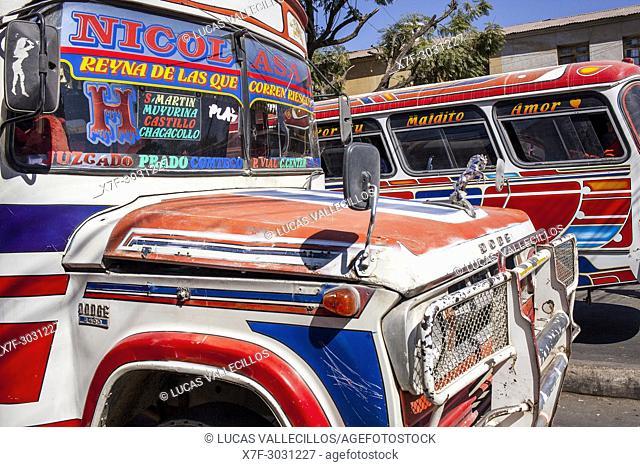 Street scene, La Cancha market, Cochabamba, Bolivia