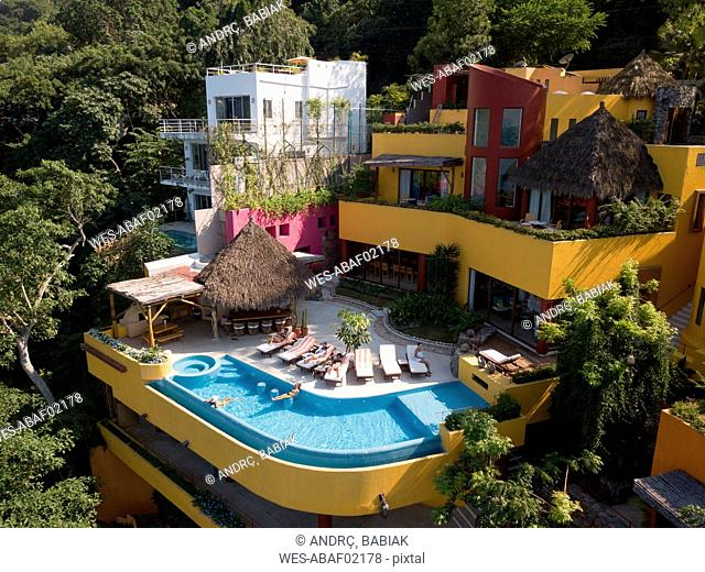 Mexico, Jalisco, Mismaloya near Puerto Vallarta, Luxury vacation villa