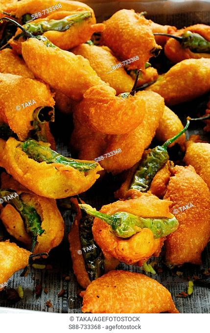 Fried chilli for breakfast, India