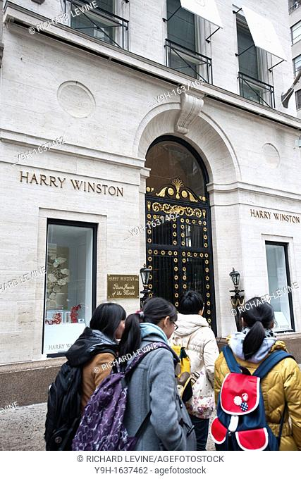 The Harry Winston jewelry store in Midtown Manhattan in New York