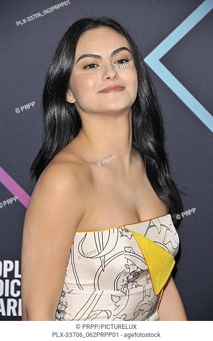 Camila Mendes at E! People's Choice Awards held at the Barker Hangar in Santa Monica, CA on Sunday, November 11, 2018. Photo by PRPP / PictureLux