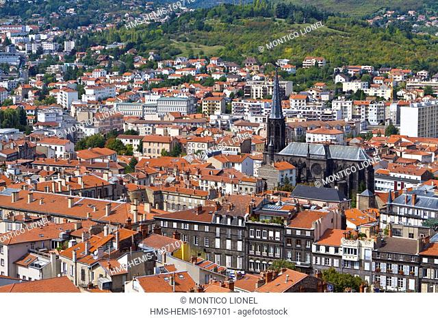 France, Puy-de-Dome, Clermont-Ferrand, view from the Cathedral of Our Lady of the Assumption