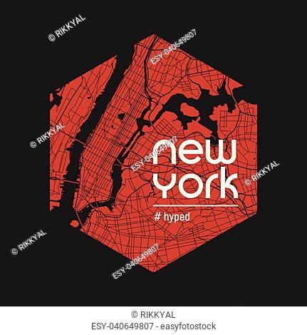 New York hyped t-shirt and apparel vector design, print, typography, poster, emblem
