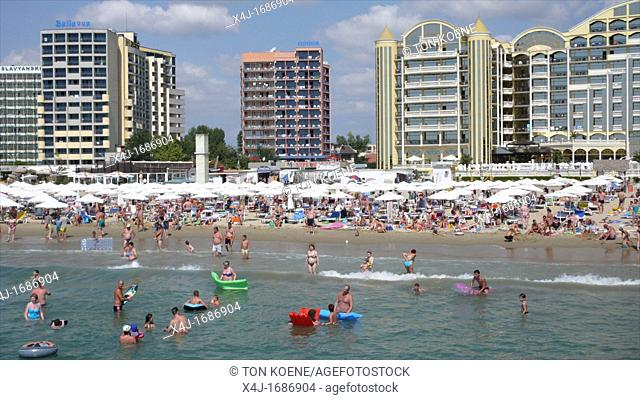 The Black Sea, Bulgaria, is a popular tourist destination for Bulgarians, Russians and British people. There is heath, sun