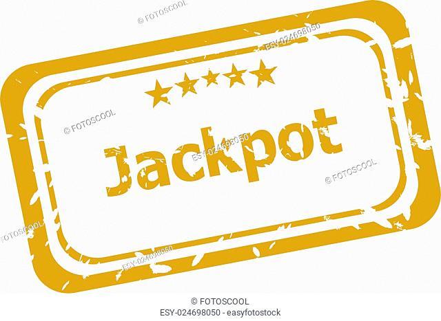 jackpot stamp isolated on white background