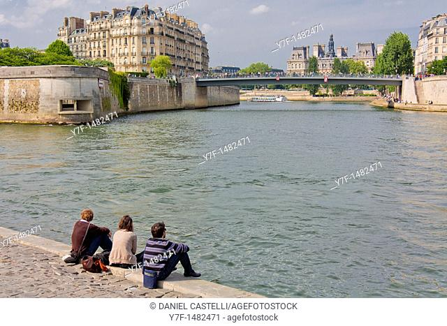 View on Seine, Paris, France