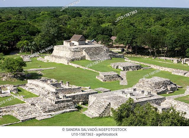 Archaeological site Mayapán, Yucatan, Mexico