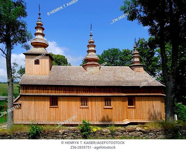 Wooden Roman-Catholic church in Radoszyce, Bieszczady, Poland